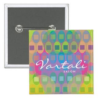 Multicolor Pattern Vartali Square Button