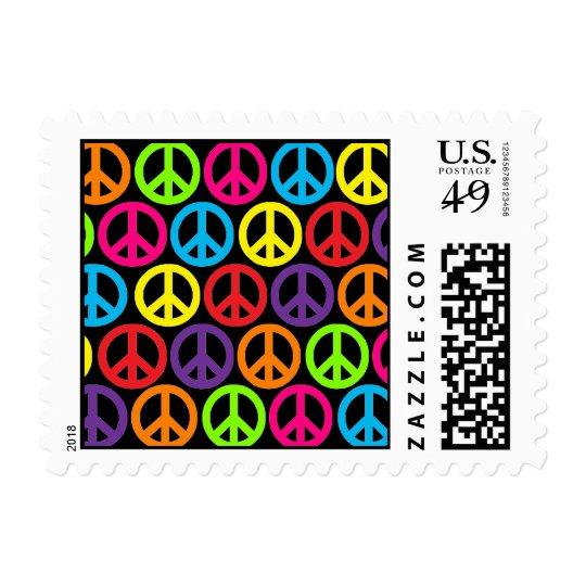 Multicolor Peace Postage