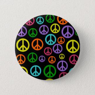 Multicolor Peace Signs Pinback Button