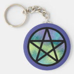 Multicolor Pentacle Keychain