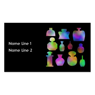 Multicolor Perfume Bottles. Business Card Template