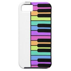 Multicolor piano keys iPhone 5 cover