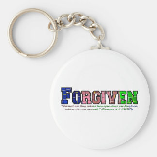 multicolor plaid forgiven2 keychain