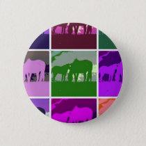 Multicolor Pop Art Horses Button