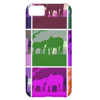 Multicolor Pop Art Horses Case For iPhone 5C