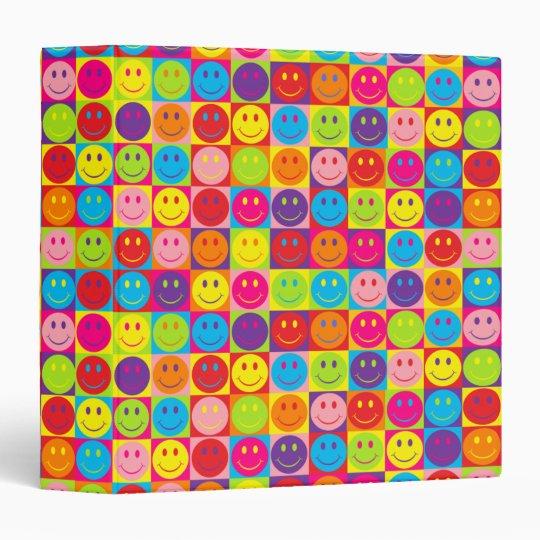 Multicolor Pop Smileys Binder
