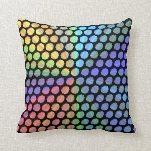 Multicolor Prism Effect Pillows
