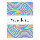 "Multicolor Psychedelic Twist Swirl Pattern. 5"" X 7"" Invitation Card"