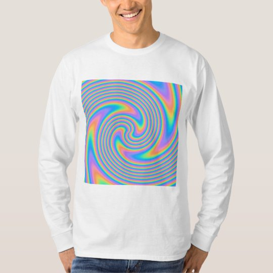 Multicolor Psychedelic Twist Swirl Pattern. T-Shirt