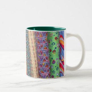 Multicolor Quilt Bolt Fabric Mug