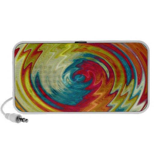Multicolor Radical Abstract Art Travelling Speaker
