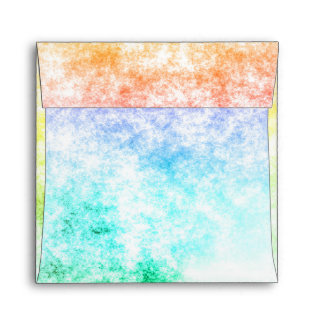 Multicolor Rainbow Clouds Customize or Stay Cloudy Envelope