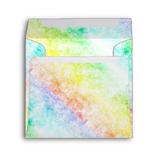 Multicolor Rainbow Clouds Customize or Stay Cloudy Envelopes