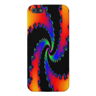 Multicolor rainbow fractal spiral covers for iPhone 5