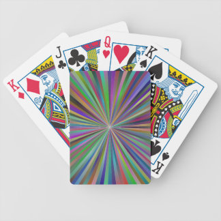 Multicolor ray design bicycle playing cards