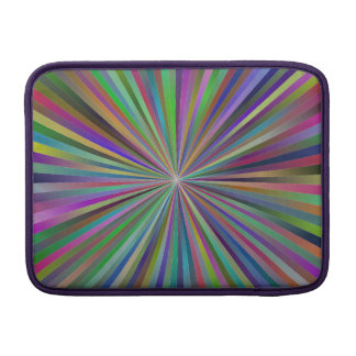 Multicolor ray design sleeve for MacBook air