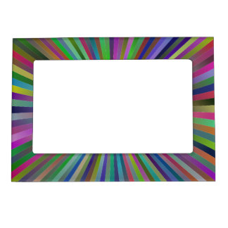 Multicolor ray design magnetic frame