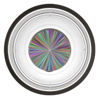 Multicolor ray design pet bowl