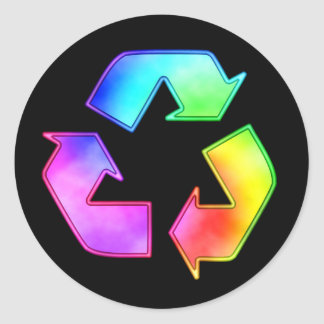 Multicolor Recycling Symbol Sticker