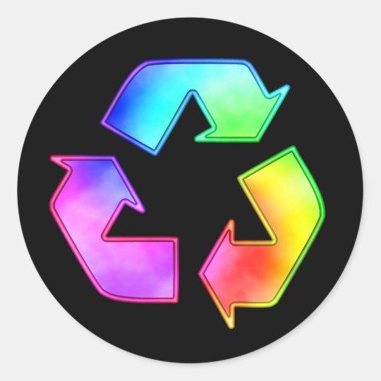 Multicolor Recycling Symbol Sticker Zazzle