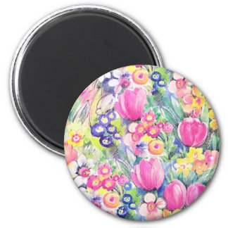 Multicolor repeat pattern 2 inch round magnet