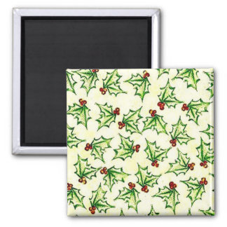 Multicolor repeat pattern 2 inch square magnet