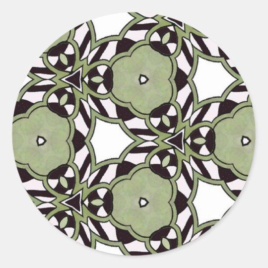 Multicolor repeat pattern classic round sticker