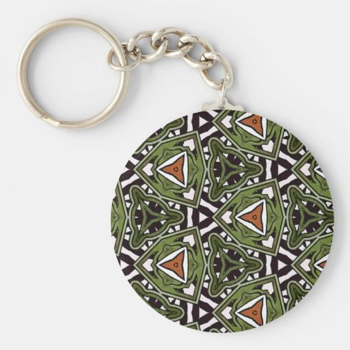 Multicolor repeat pattern keychain