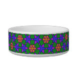 Multicolor Repeat Pattern Products Cat Bowls