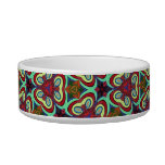 Multicolor Repeat Pattern Products Cat Food Bowls