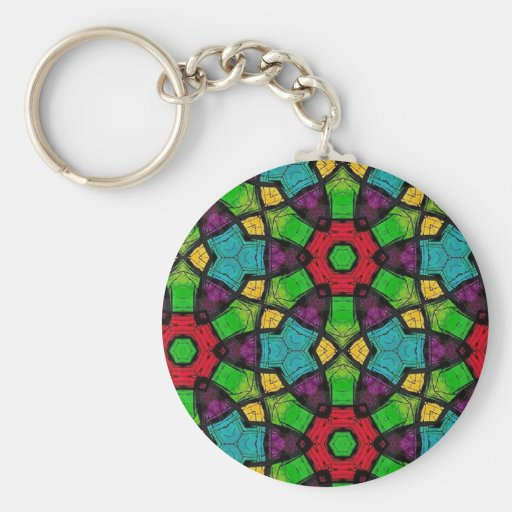 Multicolor Repeat Pattern Products Keychains
