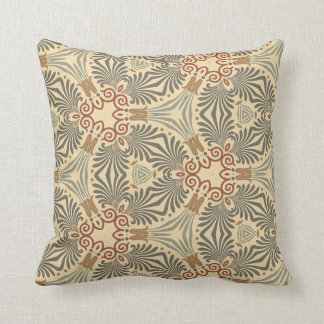 Multicolor Repeat Pattern Products - Muted Shades Throw Pillows