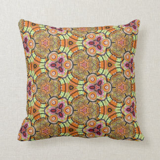 Multicolor Repeat Pattern Products Throw Pillow