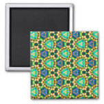 Multicolor repeat pattern refrigerator magnet