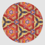 Multicolor repeat pattern round stickers
