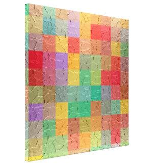 Multicolor Retro Square Seamless Pattern Canvas Print