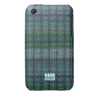 Multicolor Ribknit iPhone 3 Case-Mate Case