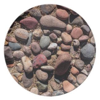 Multicolor River Rocks Melamine Plate