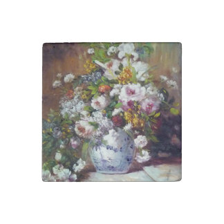MULTICOLOR ROSES BY RENOIR STONE MAGNET