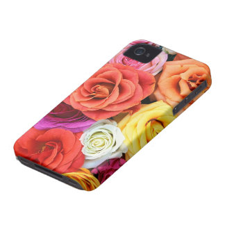 Multicolor Roses Pattern Design iPhone 4 Covers
