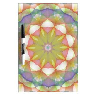 Multicolor Scalloped Flower Kaleidoscope Dry Erase Board