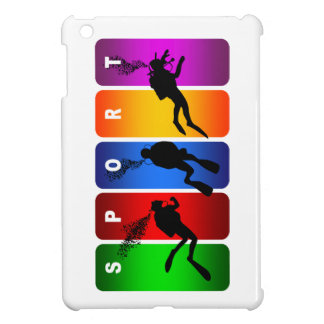 Multicolor Scuba Diving Emblem Cover For The iPad Mini