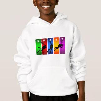 Multicolor Scuba Diving Emblem Hoodie