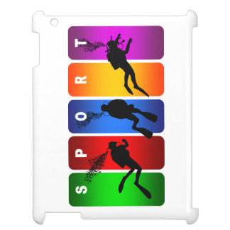 Multicolor Scuba Diving Emblem iPad Covers
