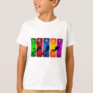 Multicolor Scuba Diving Emblem T-Shirt
