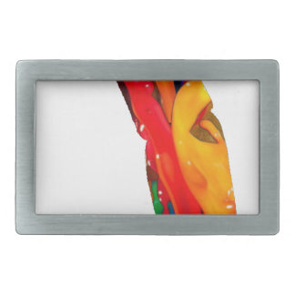 MULTICOLOR SHADOW GOLF PRODUCTS RECTANGULAR BELT BUCKLE