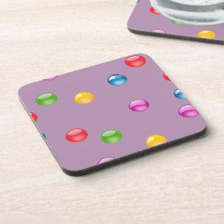 Multicolor Shiny Polkadot Confetti DIY Background Beverage Coaster