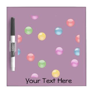 Multicolor Shiny Polkadot Confetti DIY Background Dry-Erase Board