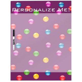 Multicolor Shiny Polkadot Confetti DIY Background Dry Erase Board