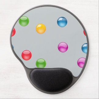 Multicolor Shiny Polkadot Confetti DIY Background Gel Mouse Pad